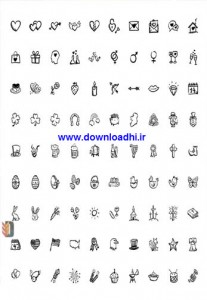 GraphicRiver 90 Hand Drawn Holiday Icons