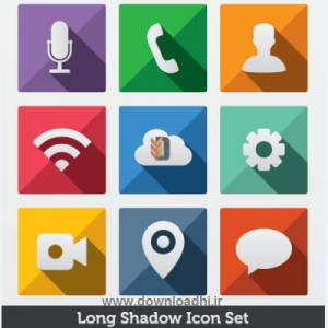 Long.Shadow.Vector.Icons.Set