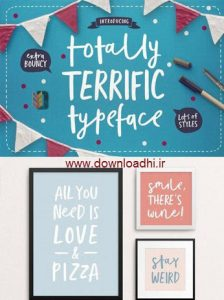 Totally Terrific Typeface Font